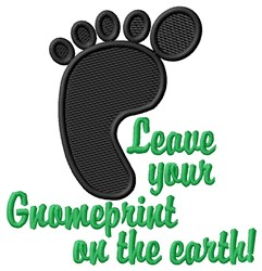 Leave Gnomeprint embroidery design