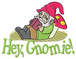 Hey Gnomie embroidery design