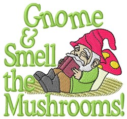Gnome Smell embroidery design
