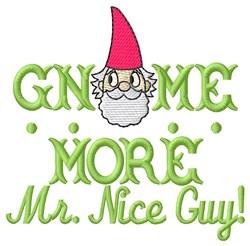 Gnome More embroidery design