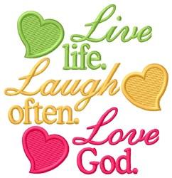 Love God embroidery design