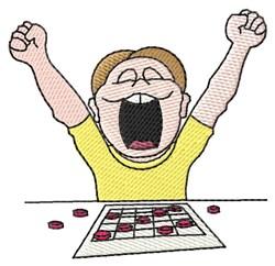 Male Bingo Player embroidery design