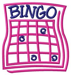 Bingo Card embroidery design