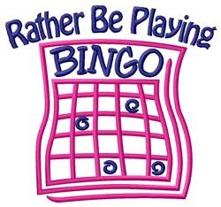 Playing Bingo embroidery design