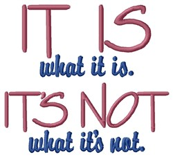 Deal With What Is! embroidery design