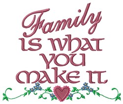 Family Is Love embroidery design