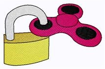 Padlock And Spinner embroidery design