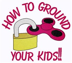Ground Your Kids embroidery design
