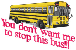 Stop This Bus embroidery design