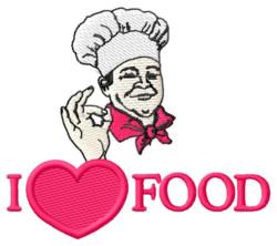 I Love Food embroidery design