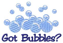 Got Bubbles? embroidery design