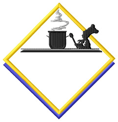 Chef Logo embroidery design