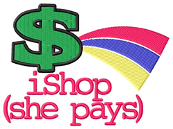 iShop (She Pays) #2 embroidery design
