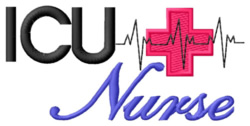 ICU Nurse embroidery design