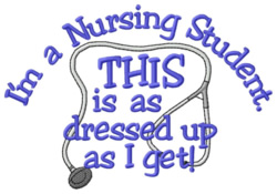 Dressed Up Nurse embroidery design