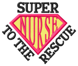 Super To the Rescue embroidery design