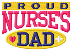 Proud Dad embroidery design