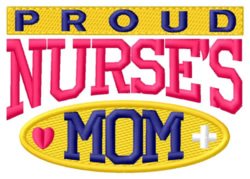 Proud Mom embroidery design