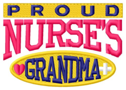 Proud Grandma embroidery design