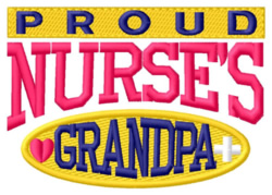 Proud Grandpa embroidery design