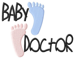 Baby Doctor embroidery design