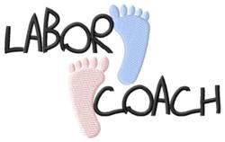 Labor Coach embroidery design