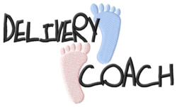 Delivery Coach embroidery design