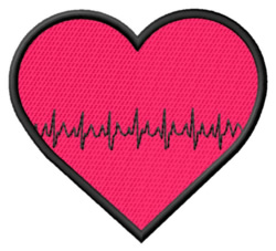 Heart with Beat embroidery design