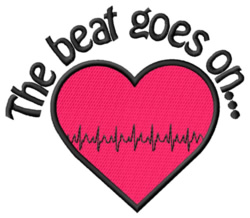 The Beat Goes On embroidery design