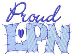 Proud Nurse embroidery design