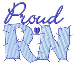 Proud Registered Nurse embroidery design