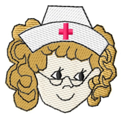 Nurse Face embroidery design