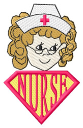 Super Nurse embroidery design