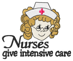 Intensive Care embroidery design