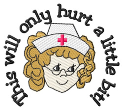 Nurse Head embroidery design