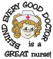 Great Nurse embroidery design