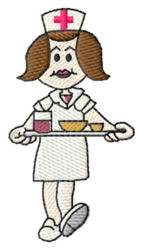 Nurse Serving embroidery design