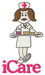 iCare Nurse embroidery design