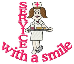 Service with a Smile embroidery design