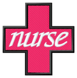 Nurse Cross embroidery design