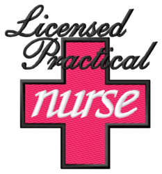 Licensed Practical Nurse embroidery design