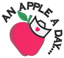 An Apple a Day embroidery design