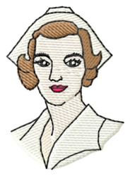 Nurse in Uniform embroidery design