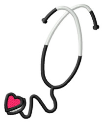 Heart Stethoscope embroidery design