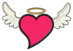 Winged Heart embroidery design