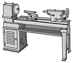Wood Turning Lathe embroidery design
