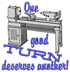 Turn Deserves Another embroidery design