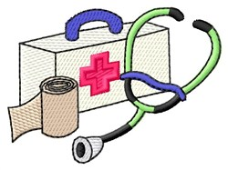 Medical Kit embroidery design