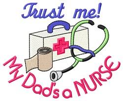 Dads a Nurse embroidery design