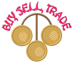 Buy Sell Trade embroidery design